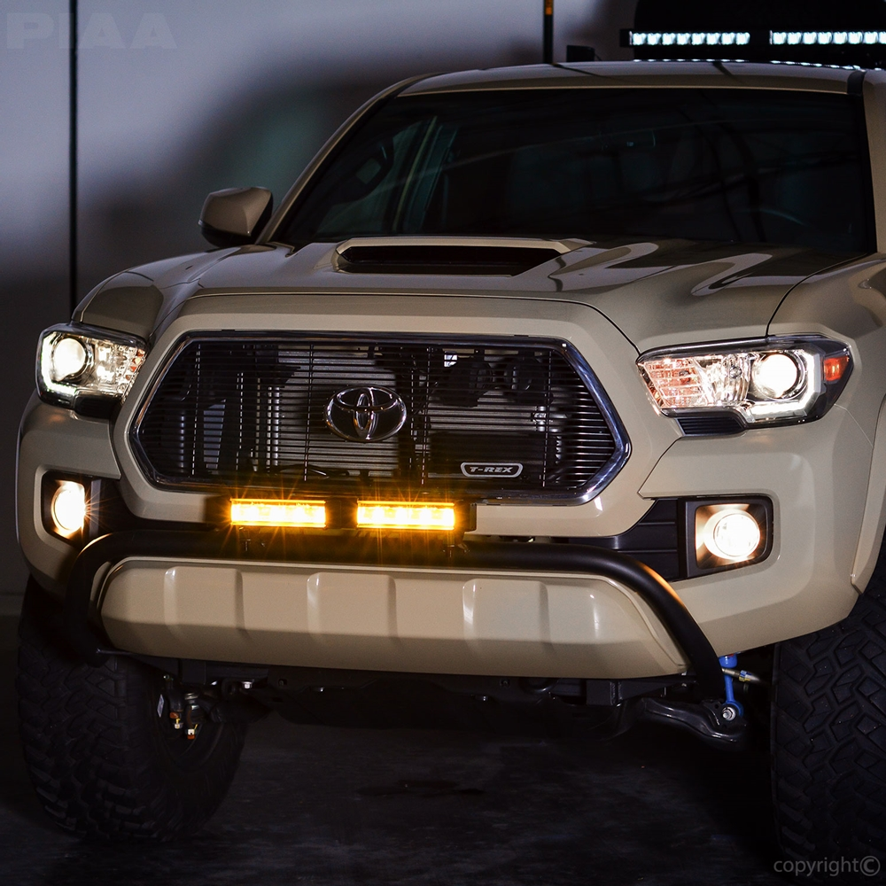 Piaa rf series 10 led light bar yellow fog beam kit 29599 aloadofball